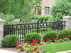 Ornamental Black Iron Fence